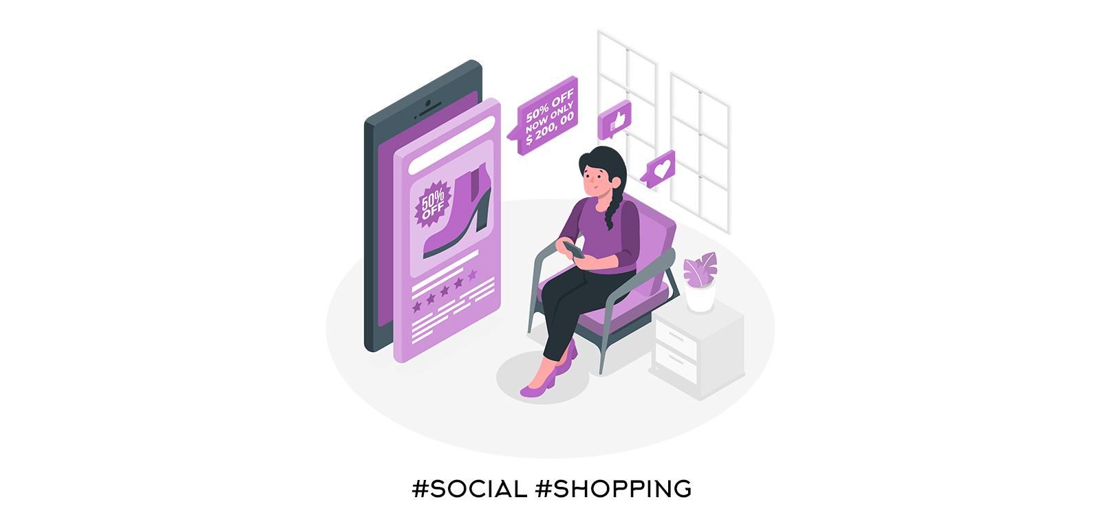 Публикации с продукти за купуване (социална търговия)